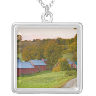 The Jenne Farm in Woodstock, Vermont. Fall. Silver Plated Necklace