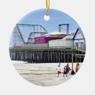 The Jersey Shore at Seaside Heights Round Ceramic Decoration