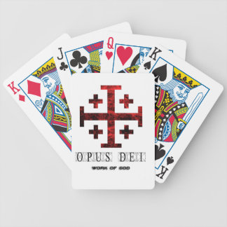 The Jerusalem Cross - Opus Dei - Work Of God Poker Deck