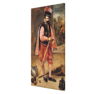 The Jester named 'Don Juan of Austria', c.1632/35 Canvas Print