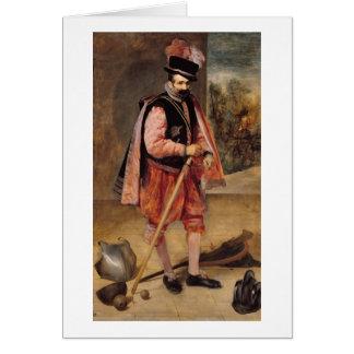 The Jester named 'Don Juan of Austria', c.1632/35 Card