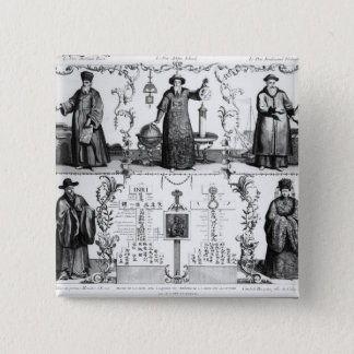 The Jesuits in China 15 Cm Square Badge