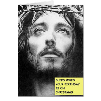The Jesus Christmas Birthday Card