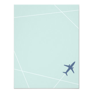 The Jet Set Stationery - Aqua 11 Cm X 14 Cm Invitation Card