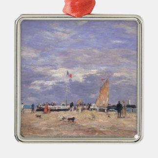 The Jetty at Deauville, 1869 Christmas Ornament