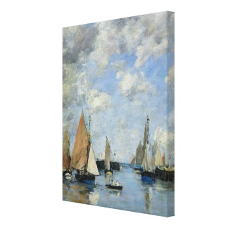 The Jetty at High Tide, Trouville Canvas Print