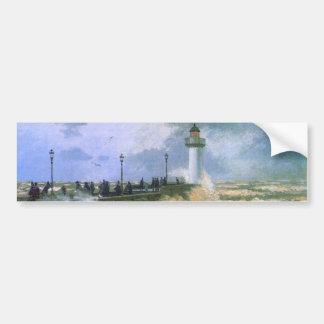 The Jetty at Le Havre - Claude Monet Bumper Sticker