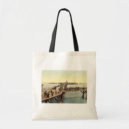 The jetty, I., Margate, England classic Photochrom Bag