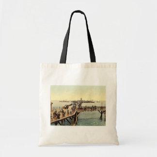 The jetty, I., Margate, England classic Photochrom Budget Tote Bag