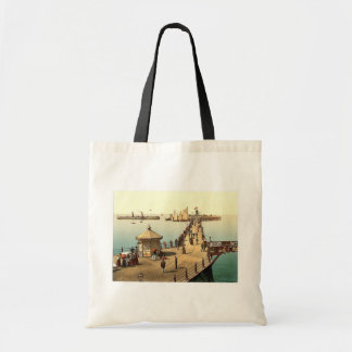 The jetty, II., Margate, England classic Photochro Budget Tote Bag