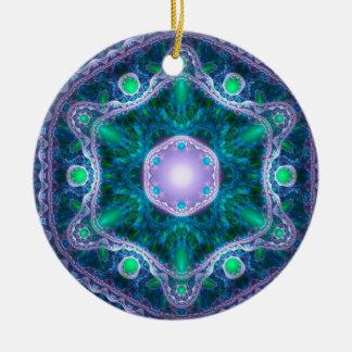 The Jewel in the Lotus Round Ceramic Decoration