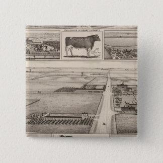 The Jewett Farm, Cheney, Kansas 15 Cm Square Badge