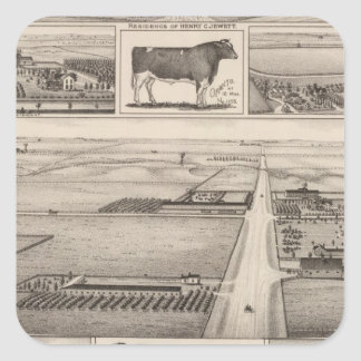 The Jewett Farm, Cheney, Kansas Square Sticker