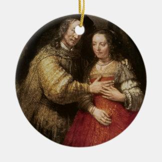 The Jewish Bride, c.1667 (oil on canvas) Christmas Ornament