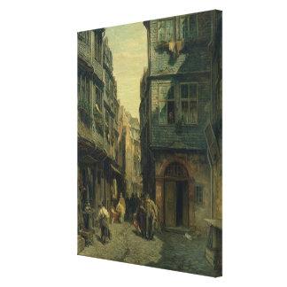 The Jewish Quarter in Frankfurt, 1883 Canvas Print