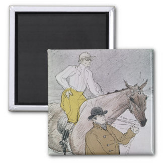The jockey led to the start square magnet