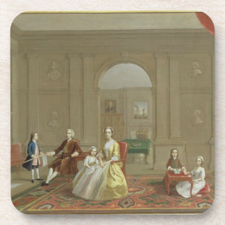 The John Bacon Family, c.1742-43 (oil on canvas) Coaster