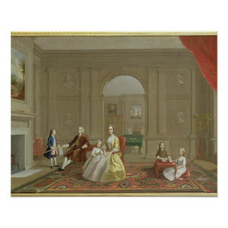 The John Bacon Family, c.1742-43 (oil on canvas) Poster