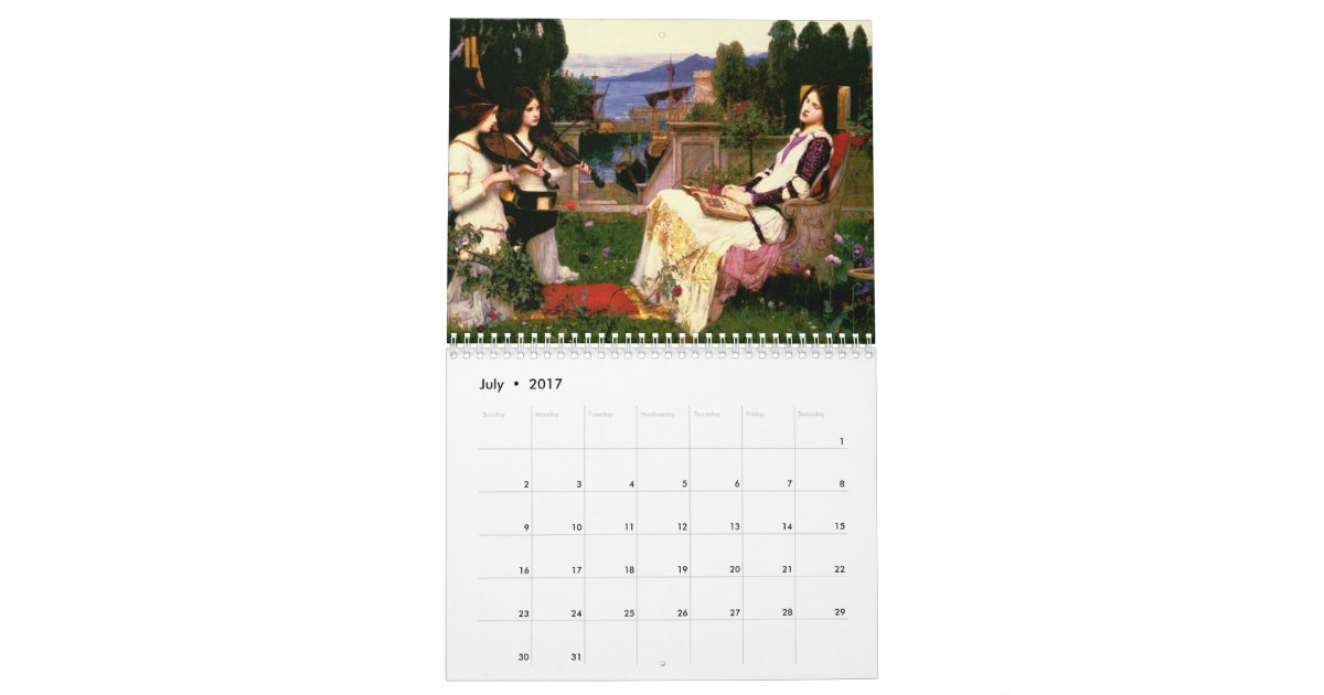 Papaya Art Calendar Uk : The john william waterhouse fine art calendar zazzle
