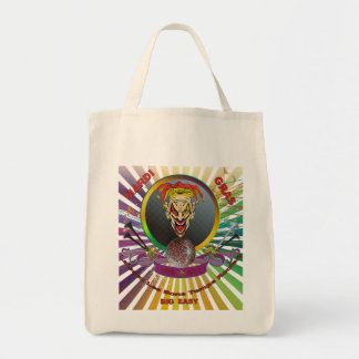 The-Joker-1-Mardi-Gras-Match-set-Trans Grocery Tote Bag