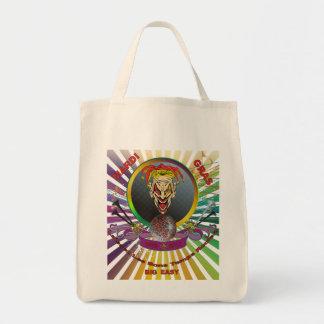 The-Joker-1-Mardi-Gras-Match-set-Trans Grocery Tote Bag