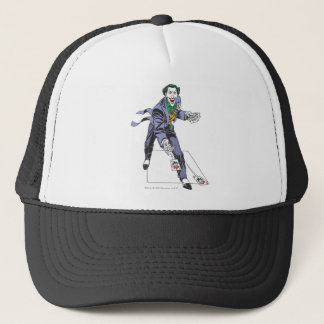 The Joker Casts Cards Trucker Hat