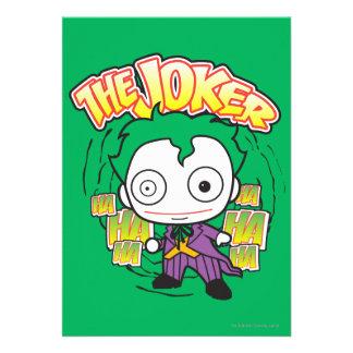 The Joker - Chibi Custom Invitations
