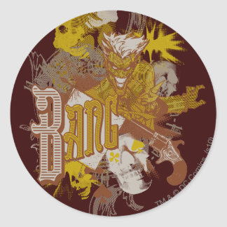 The Joker Gun / Bang Carnival Collage Classic Round Sticker