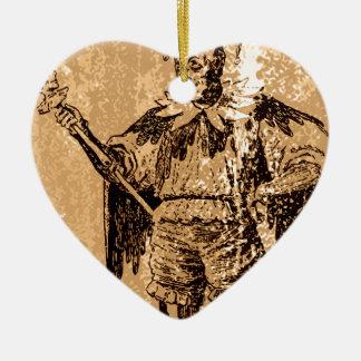 the Joker King Ceramic Heart Decoration