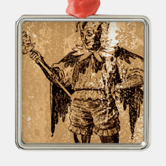 the Joker King Silver-Colored Square Decoration