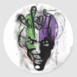 The Joker Neon Airbrush Portrait Classic Round Sticker