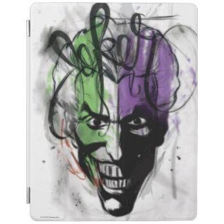 The Joker Neon Airbrush Portrait iPad Cover
