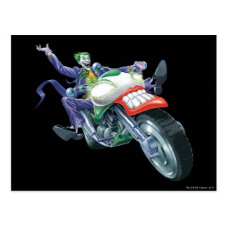 The Joker on Cycle Postcard