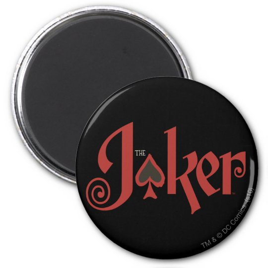 The Joker Playing Card Logo 6 Cm Round Magnet