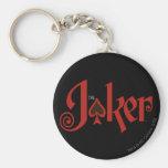 The Joker Playing Card Logo Basic Round Button Key Ring