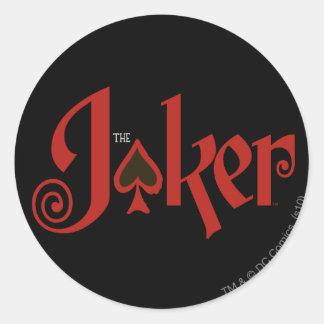 The Joker Playing Card Logo Round Sticker