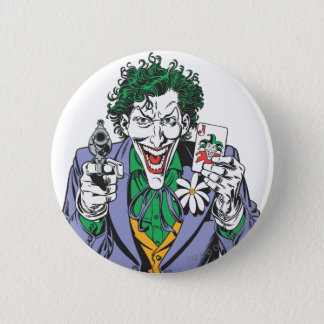 The Joker Points Gun 6 Cm Round Badge