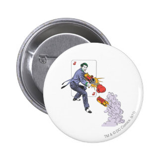 The Joker Shoots Laughing Gas 6 Cm Round Badge