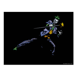 The Joker with cane Postcard