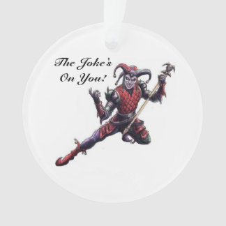 The Joke's On You Evil Jester Spirit and Staff Ornament