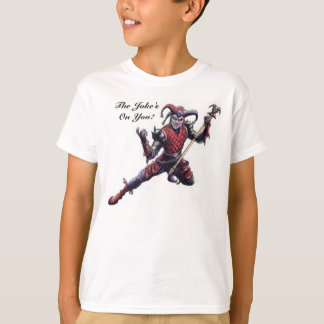 The Joke's On You Evil Jester Spirit and Staff T-Shirt