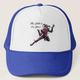 The Joke's On You Evil Jester Spirit and Staff Trucker Hat