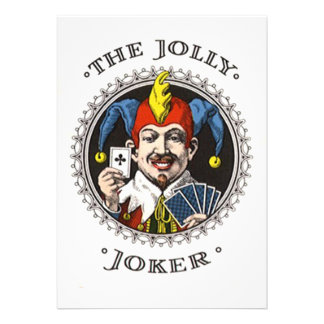 The jolly joker playing card graphic