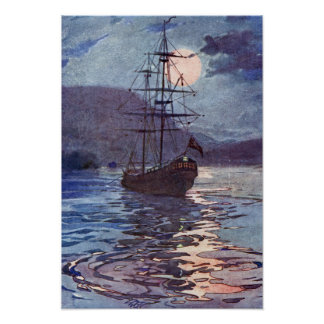 The Jolly Roger by Alice B. Woodward Poster