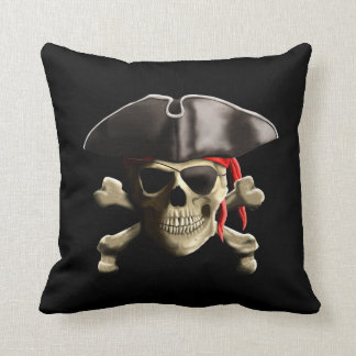 The Jolly Roger Pirate Skull Cushion