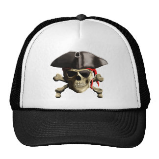 The Jolly Roger Pirate Skull Mesh Hat