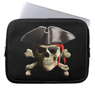 The Jolly Roger Pirate Skull Laptop Sleeve