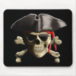 The Jolly Roger Pirate Skull Mouse Pad