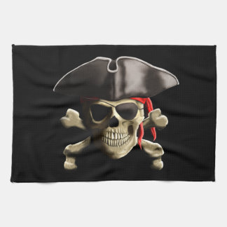 The Jolly Roger Pirate Skull Towels