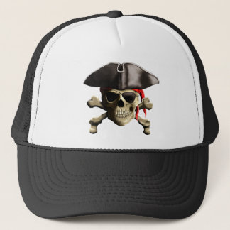 The Jolly Roger Pirate Skull Trucker Hat